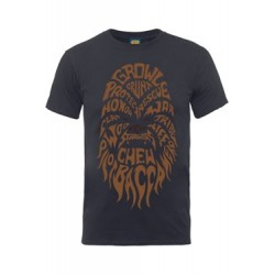 Star Wars Camiseta Chewbacca Text Head (L)
