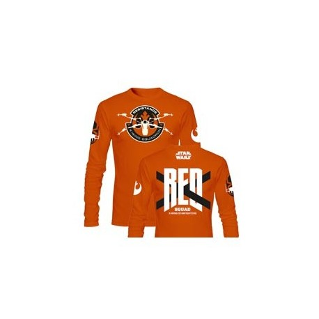 RED SQUAD M/LARGA CAMISETA NARANJA CHICO T-M STAR WARS EP7