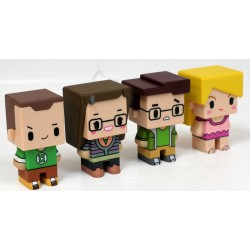 PIXEL 001 SET 4 FIGURAS 7 CM THE BIG BANG THEORY