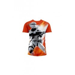 FLAMETROOPER CAMISETA FULL NARANJA CHICO T-L STAR WARS EP7