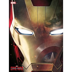 IRON MAN ROSTRO PÓSTER DE VIDRIO 30X40 cm. MARVEL CIVIL WAR