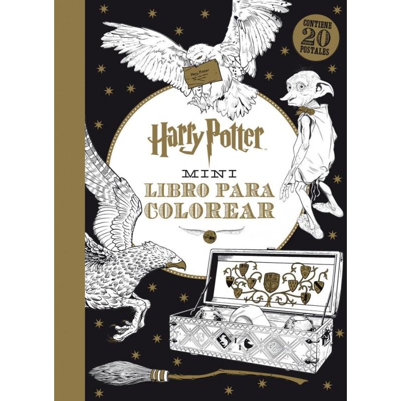 HARRY POTTER MINI LIBRO PARA COLOREAR - Comicalia