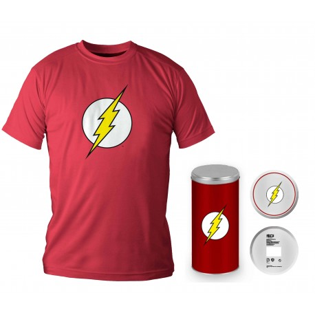 LOGO FLASH CAMISETA ROJA CHICO T-XL EDICION DELUXE DC COMICS