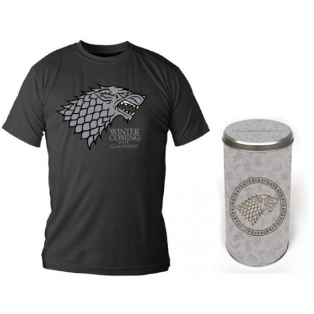 STARK CAMISETA NEGRA CHICO T-S EDICION DELUXE GAME OF THRONES