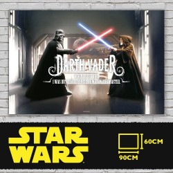 VADER WHEN I LEFT YOU POSTER DE VIDRIO STAR WARS 90x60 CM