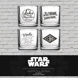 SET 4 VASOS FRASES FAMOSAS STAR WARS