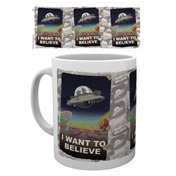Rick y Morty Taza I Want To Believe