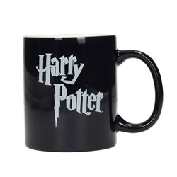 LOGO HARRY POTTER TAZA NEGRA Y BLANCA CERAMICA HARRY POTTER