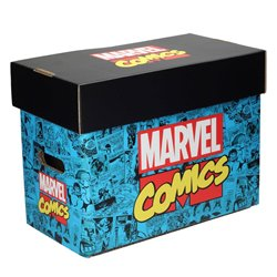 LOGO MARVEL COMICS CAJA PARA COMICS MARVEL
