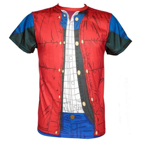 MARTY MCFLY TORSO CAMISETA FULLPRINT VHS CHICO T-XL REGRESO AL FUTURO