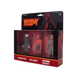 Hellboy ReAction Pack de 3 Figuras Pack B Hellboy w/o horns, Rasputin, Johann Kraus 10 cm