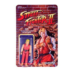 Street Fighter II Figuras ReAction 10 cm Ken