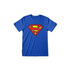 DC Comics Camiseta Superman Logo - TALLA M
