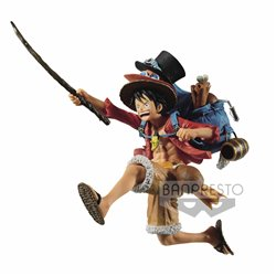 MONKEY D. LUFFY VER. A FIGURA 11 CM ONE PIECE THE THREE BROTHERS